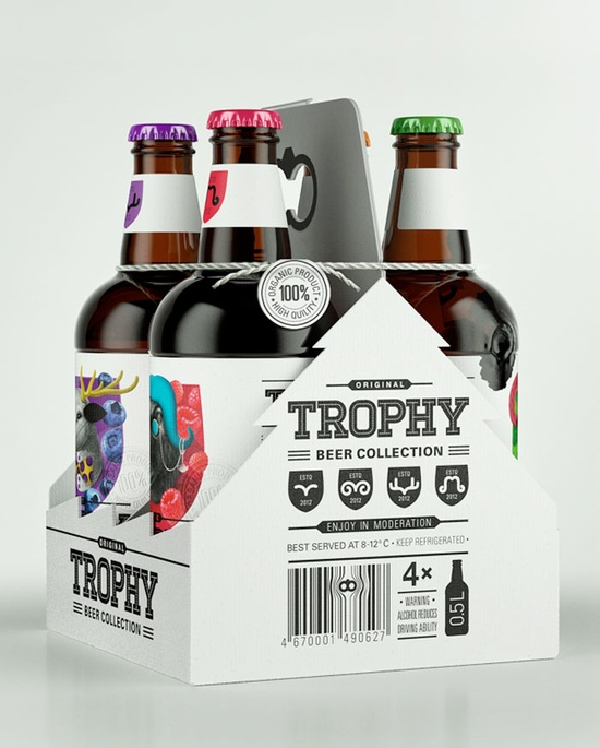 Trophy beer collection box and bottles