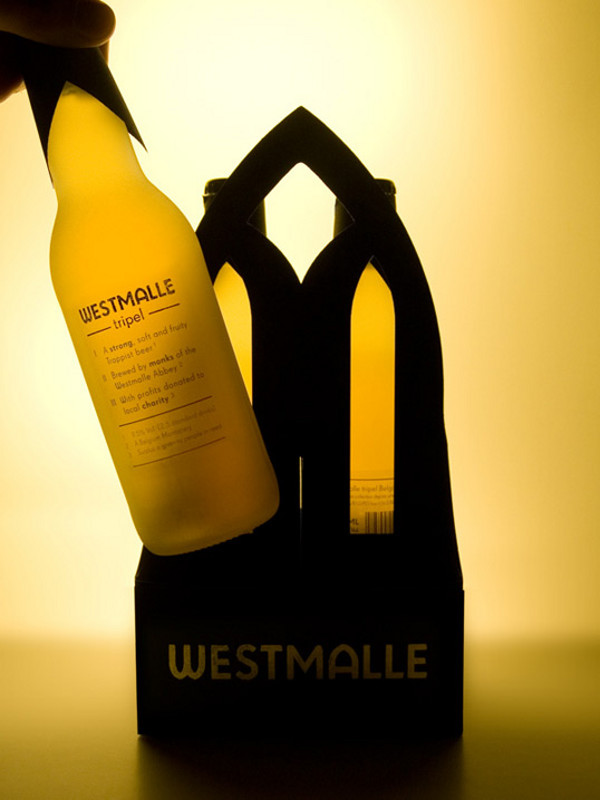Westmalle beer bottle and box