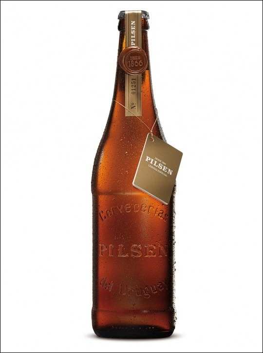 Pilsen beer bottle