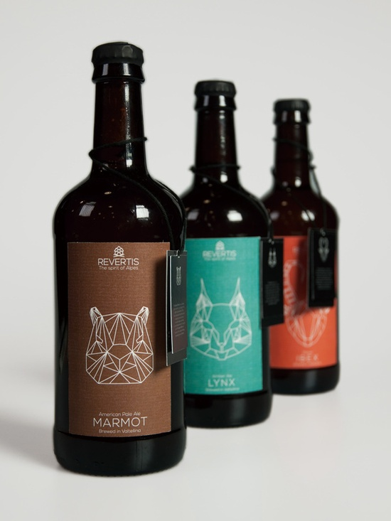 Revertis Marmot, Lynx and Ibex beer bottles