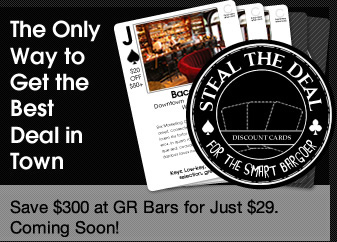 Steal the Deal Cards, for the Smart Bargoer. Save $300 for just $29. Coming Soon.